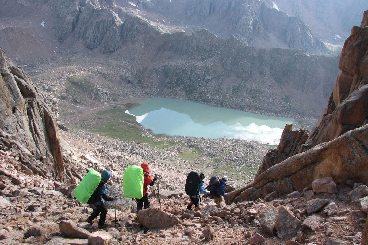 Hiking and Trekking in Kaskelen Gorge, Almaty mountains, Kazakhstan