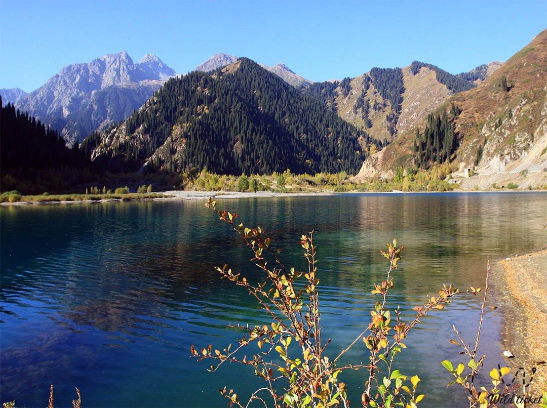Issyk lake in Almaty province, Kazakhstan.