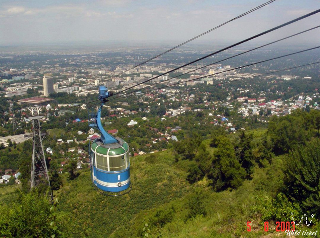 Kok Tobe mount, park and cable way, Almaty, Kazakhstan.