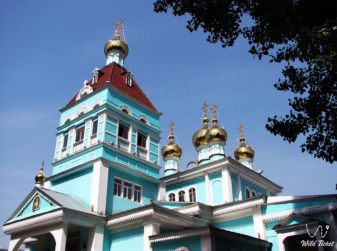 St Nicholas Cathedral palace in Almaty city.
