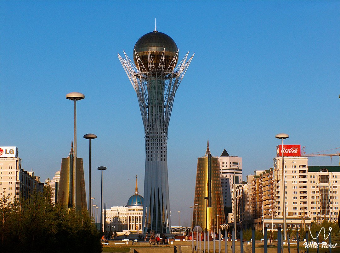 Baiterek Tower and Monument in Nur-Sultan city capital of Kazakhstan