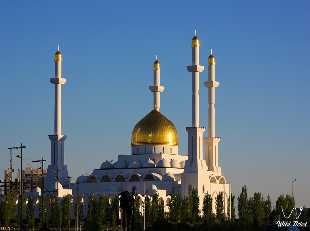 Nur-Astana mosque in Nur-Sultan city the Capital of Kazakhstan