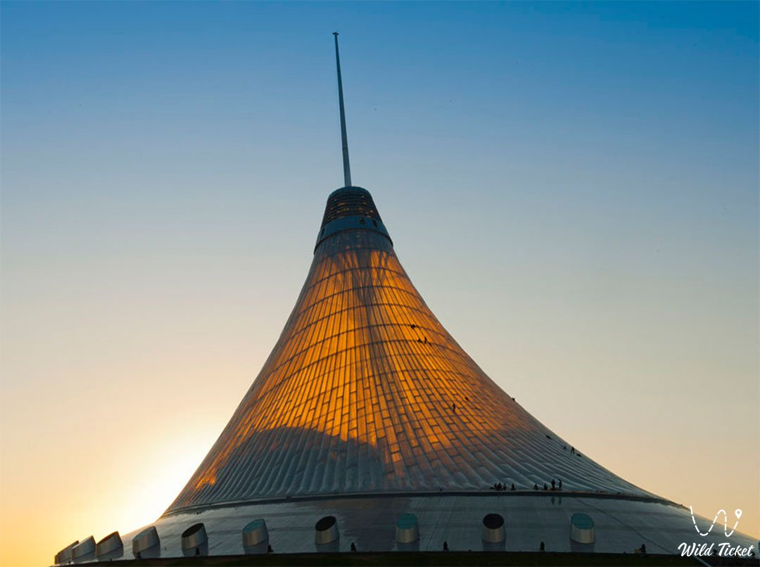 Khan Shatyr Entertainment Center in Nur-Sultan city