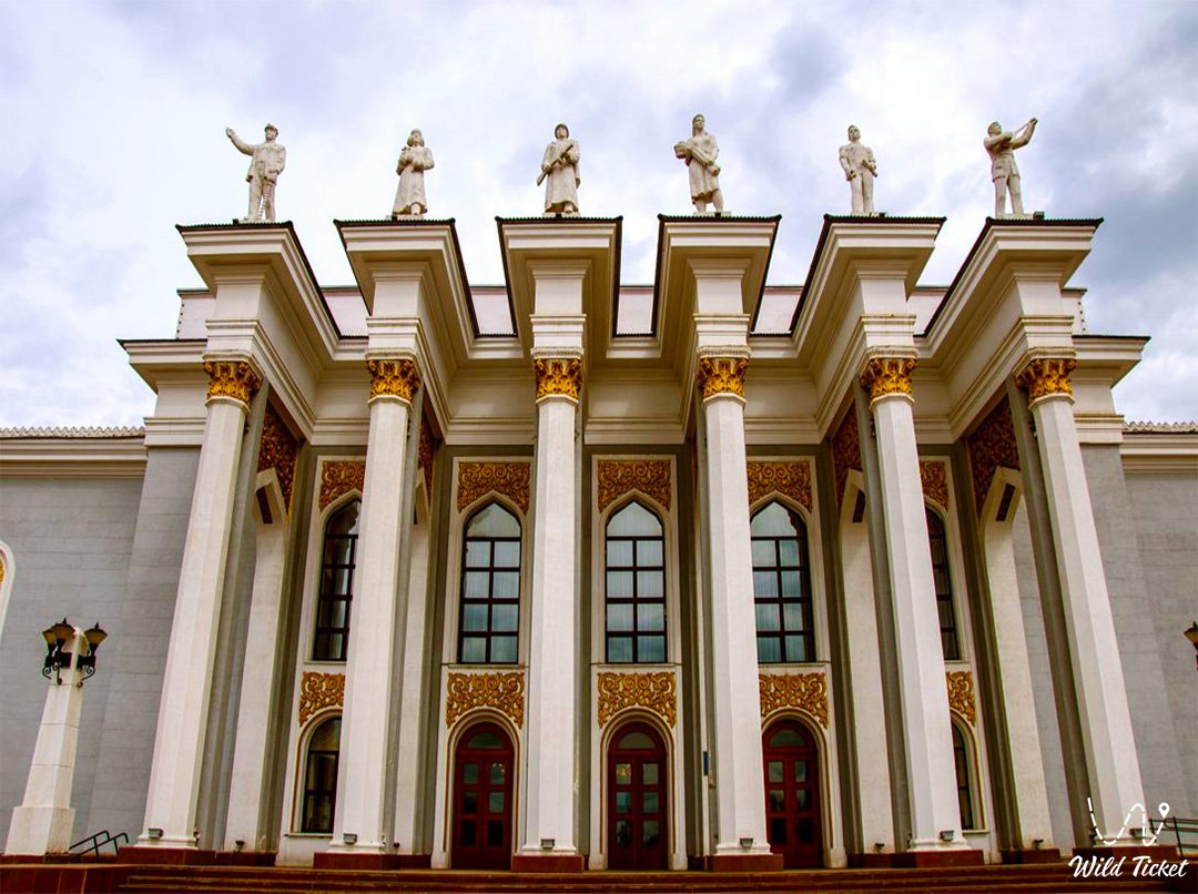 Palace of culture of miners in Karaganda city.