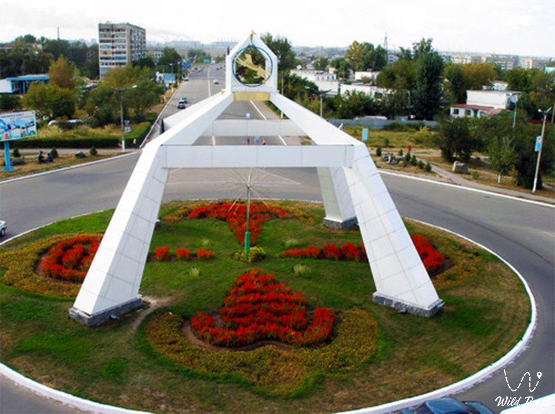 Aksu city in Pavlodar region Kazakhstan