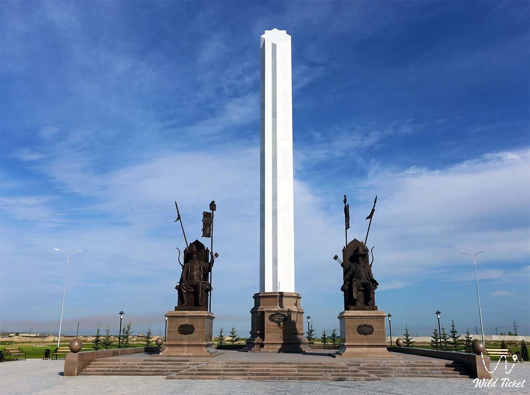 Taraz city in Jambyl region of Kazakhstan.