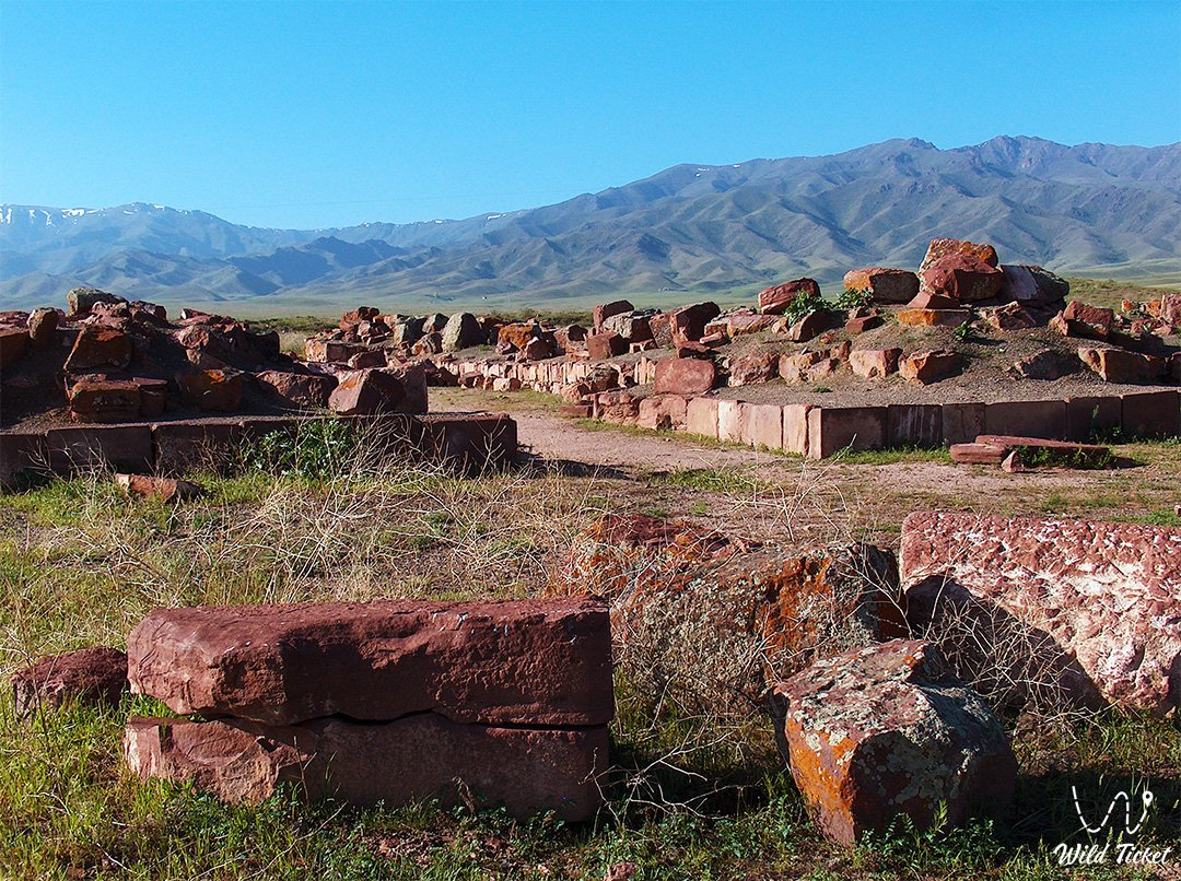 Akyrtas old and ancient city and palace in Djambyl region.