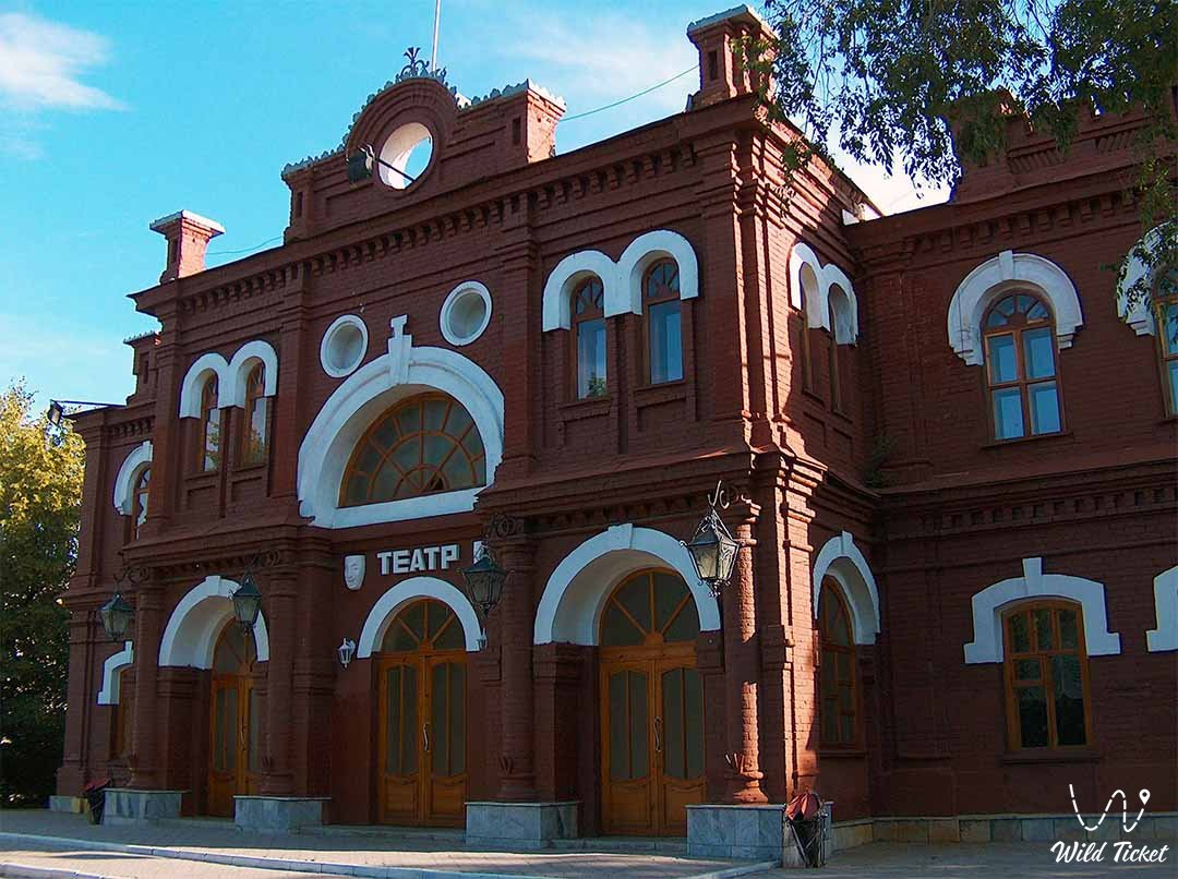 Kazakh Drama Theatre named of Jambyl in Oskemen (Ust-Kamenogorsk) city.