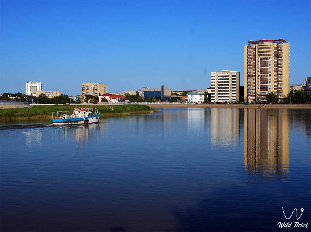 Atyrau city in Atyrau region Kazakhstan Republic.