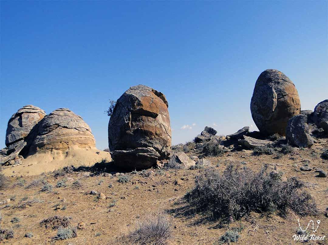 Torysh valley of round stones - Mangistau Kazakhstan.