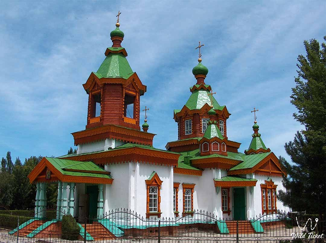 Zharkent church in Zharkent city, Kazakhstan.