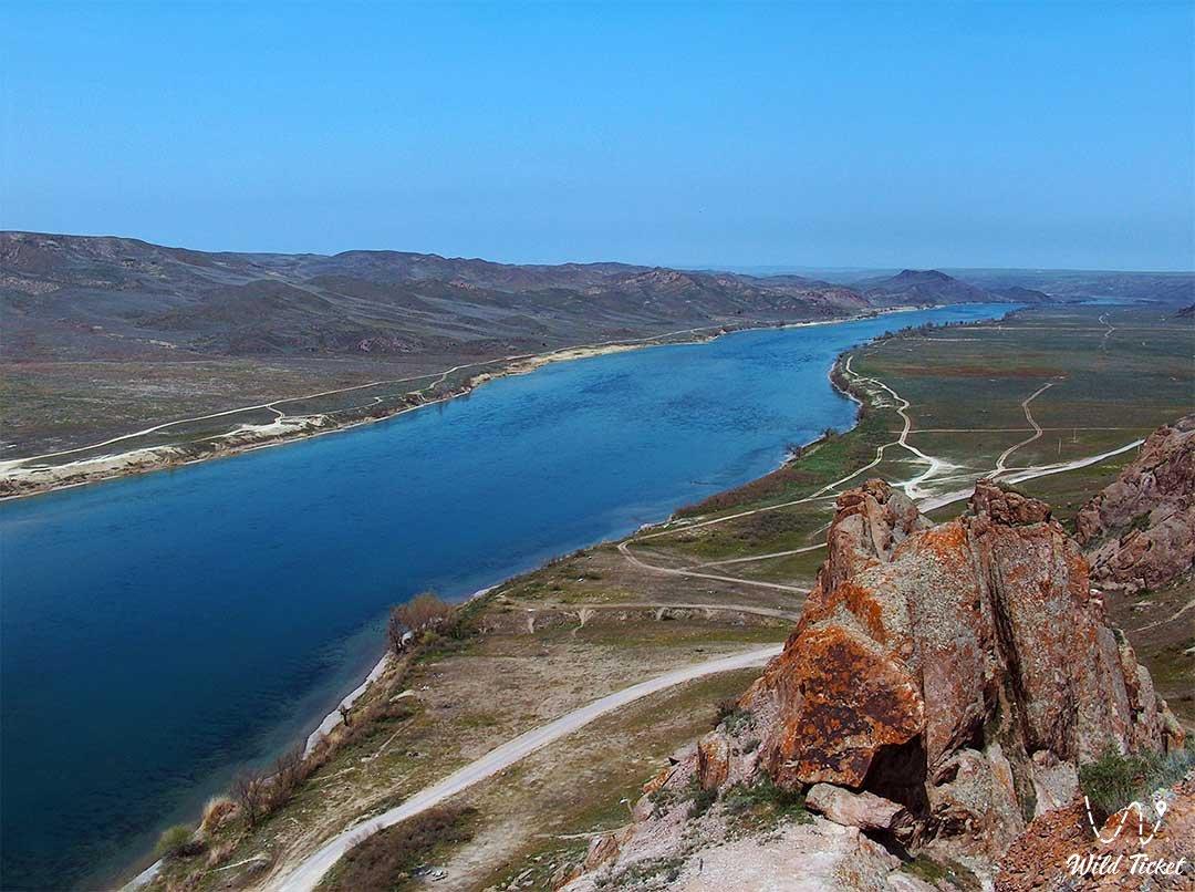 Река Или - Алматинская область, Казахстан.