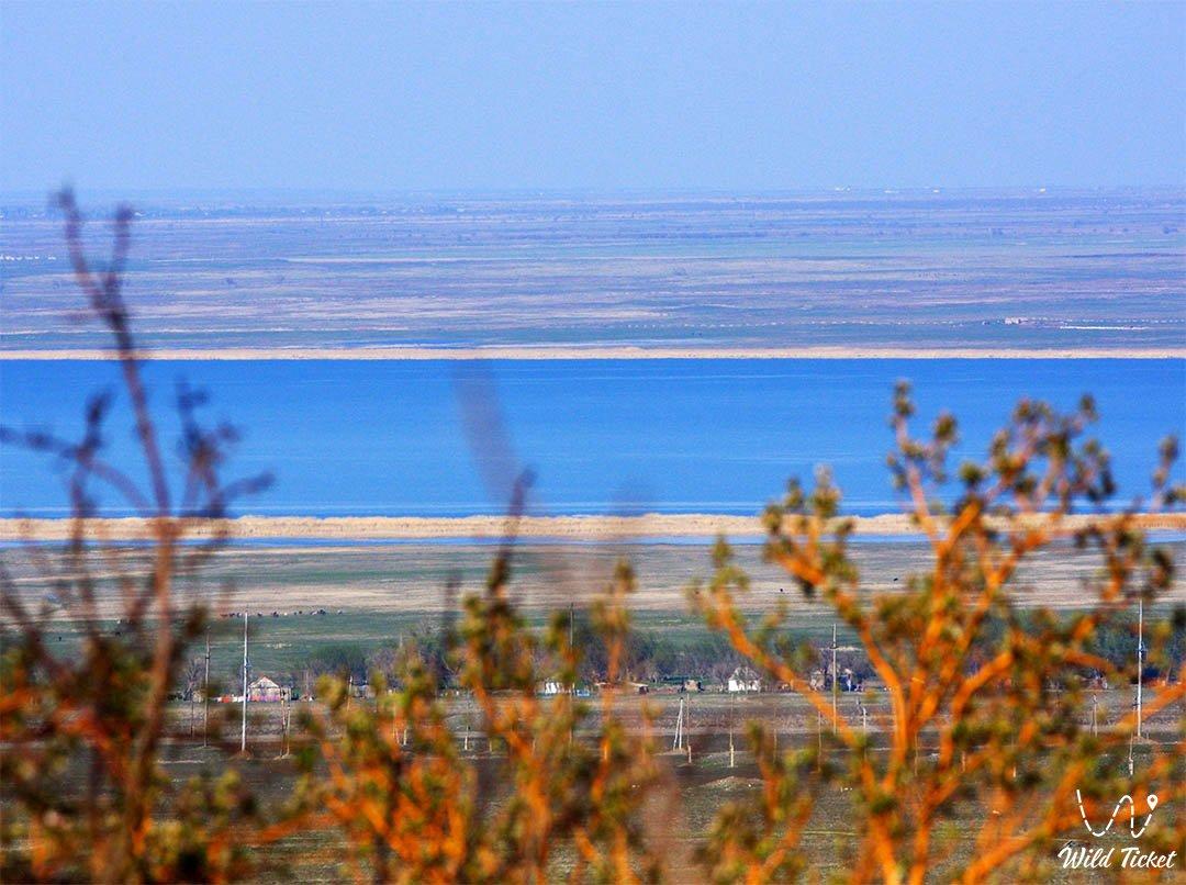 Bilikol lake in Jambyl region, Kazakhsan.