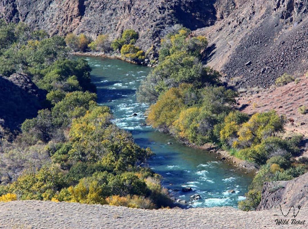 Чарын река в Алматинской области, Казахстан.