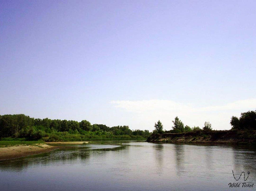 Илек река (приток Урала) в Актюбинской области, Казахстан.