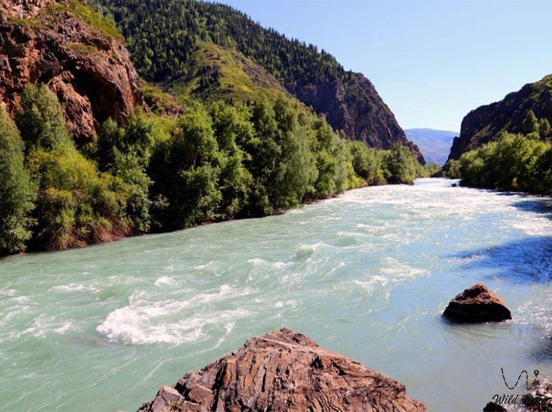 Коксу река в Алматинской области, Казахстан.
