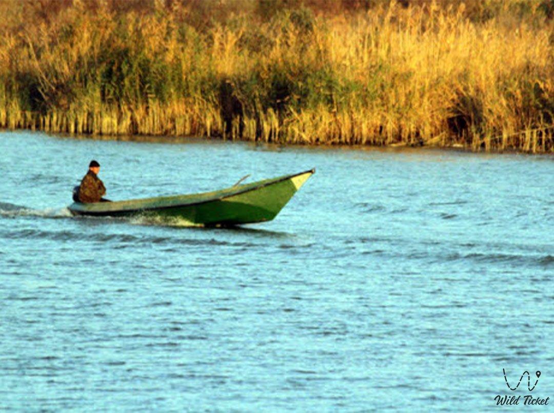 Кигач река в Атырауской области, Казахстан.