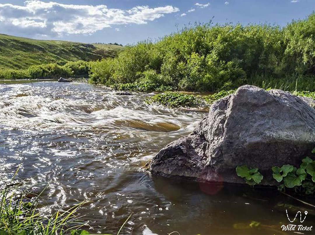Сынтасты река в Казахстане.