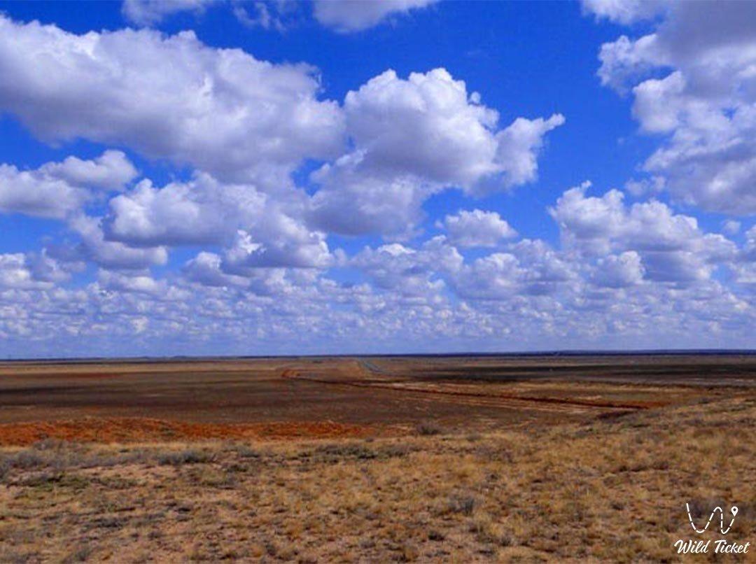 Улытау горный массив в Карагандинской области, Казахстан.