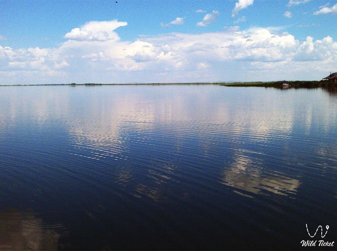 Zerendi lake in Akmola region, Kazakhstan.