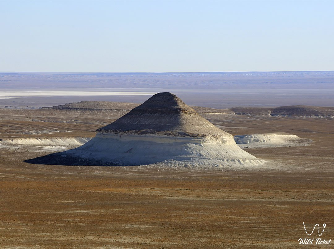 Shoky Tau mount in Boszhira tract and valley, Mangyshlak, Kazakhstan.