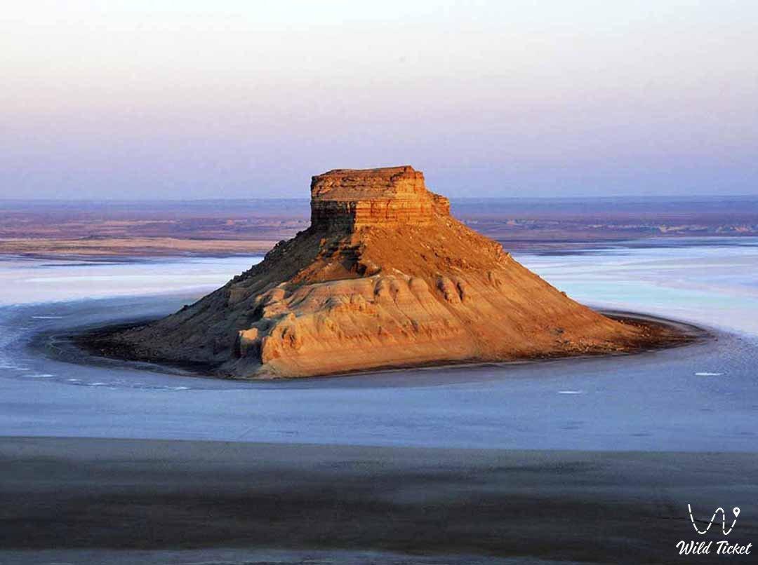 Yurt mount in Boszhira tract, Mangyshlak, Kazakhstan.