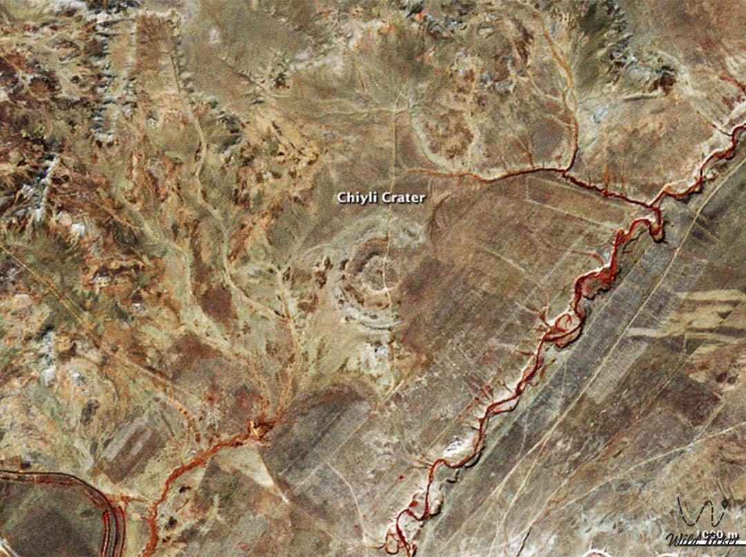 Chiyli crater (Shiyli meteorit crater) in Aktobe region, Kazakhstan.