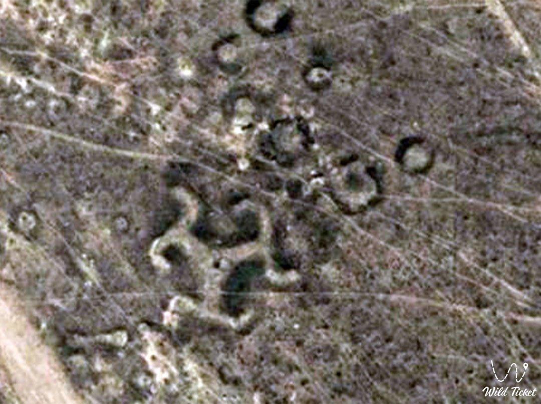 Тургайские геоглифы в Костанайской области, Казахстан.