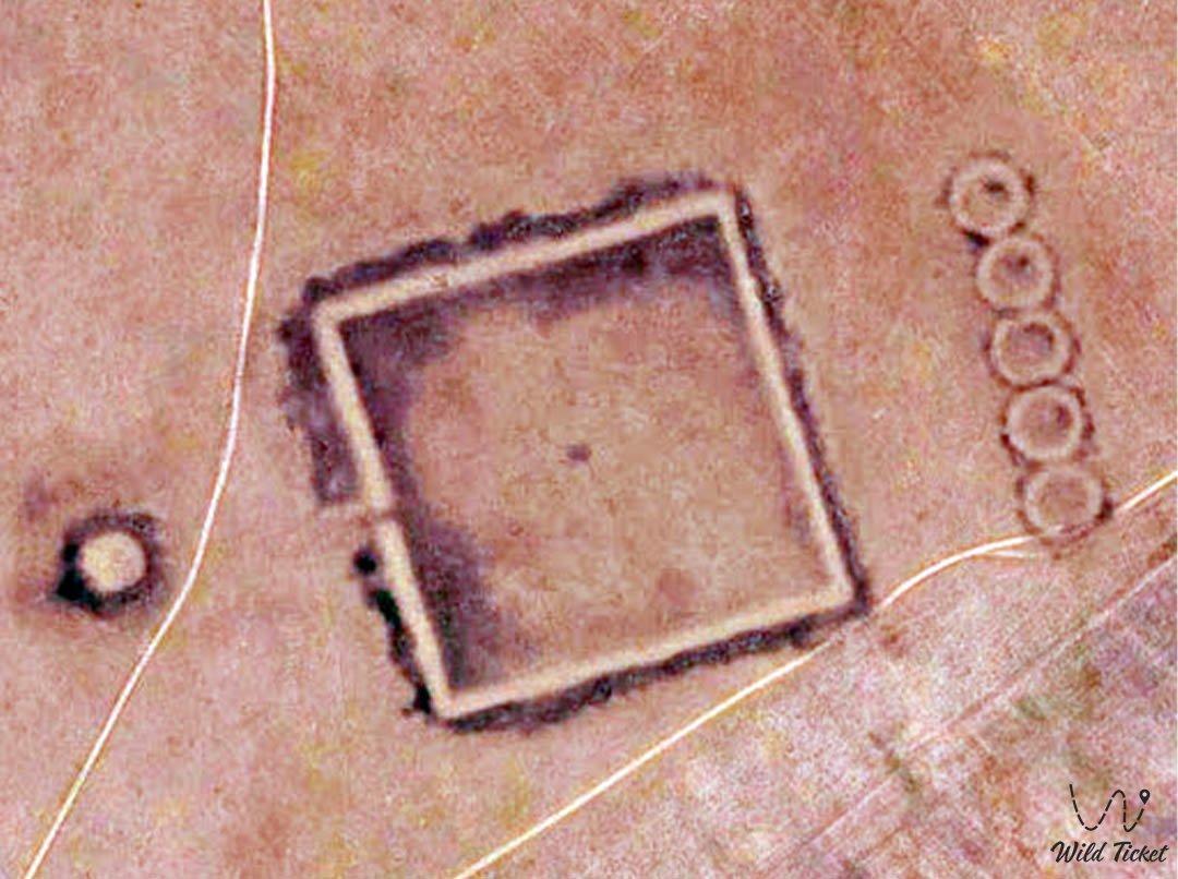 Шилийский квадрат, геоглиф в Костанайской области, Казахстан.