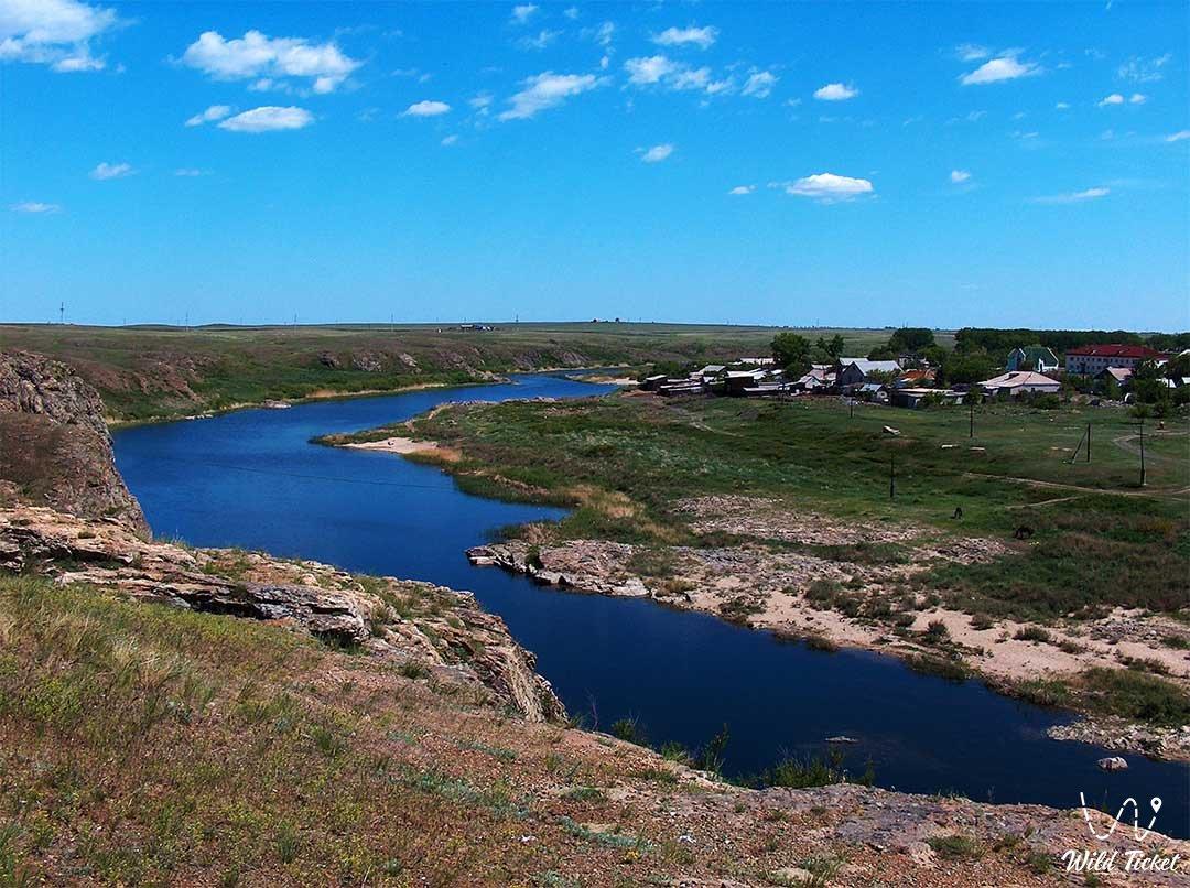 Тургай местность и область в Костанайской области, Казахстан.