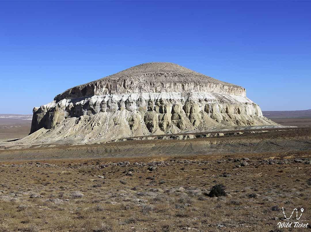 Sherkala mount in Mangystau region, Kazakhstan.