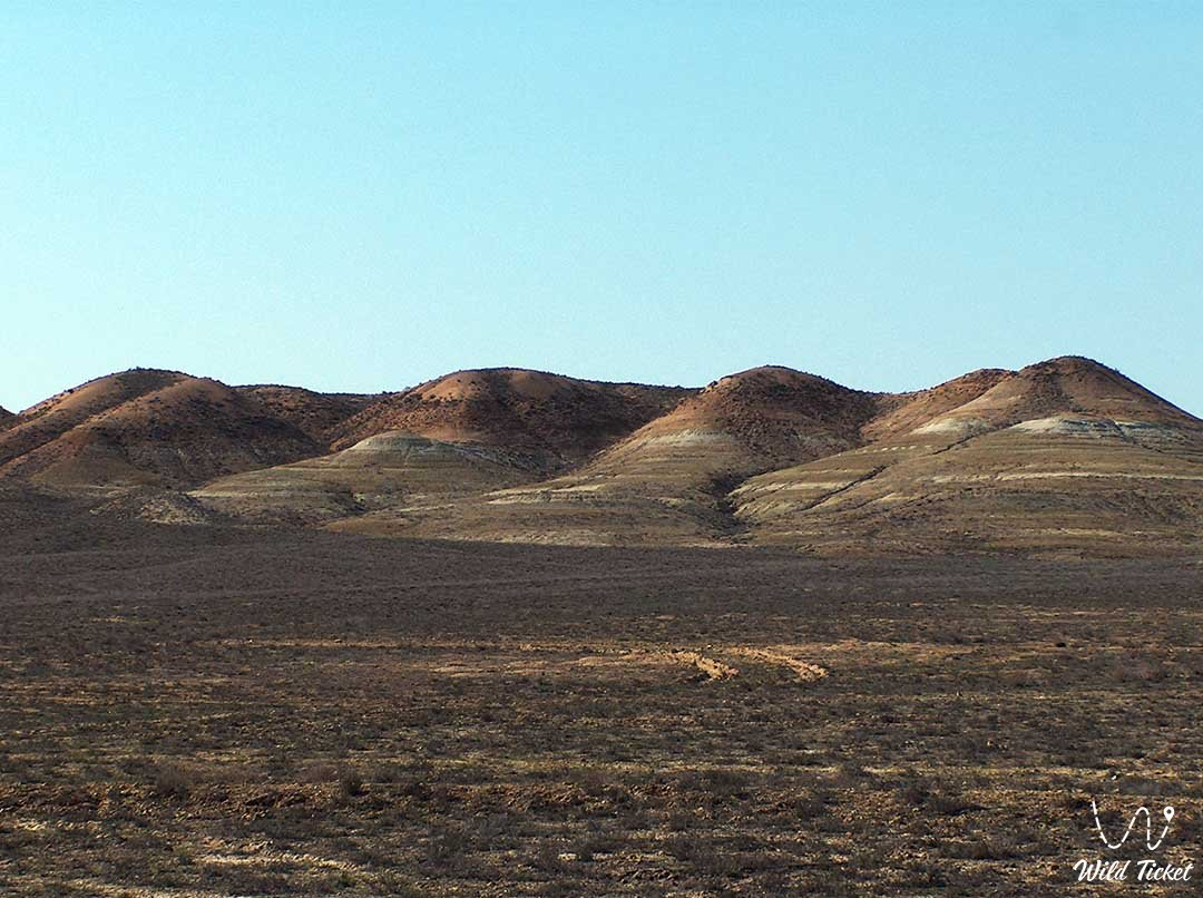 Karatau mountains in Mangystau region, Kazakhstan.