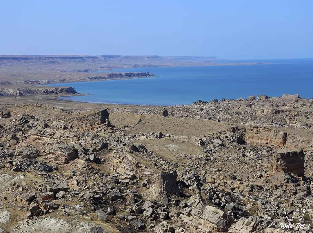 Zhagylgan sinkhole in Mangystau region, Caspian Sea side, Kazakhstan.