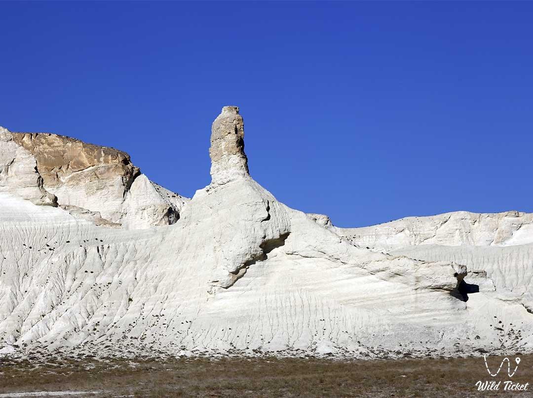 Mangyshlak chalk (white) mountains in Mangystau region, Kazakhstan.