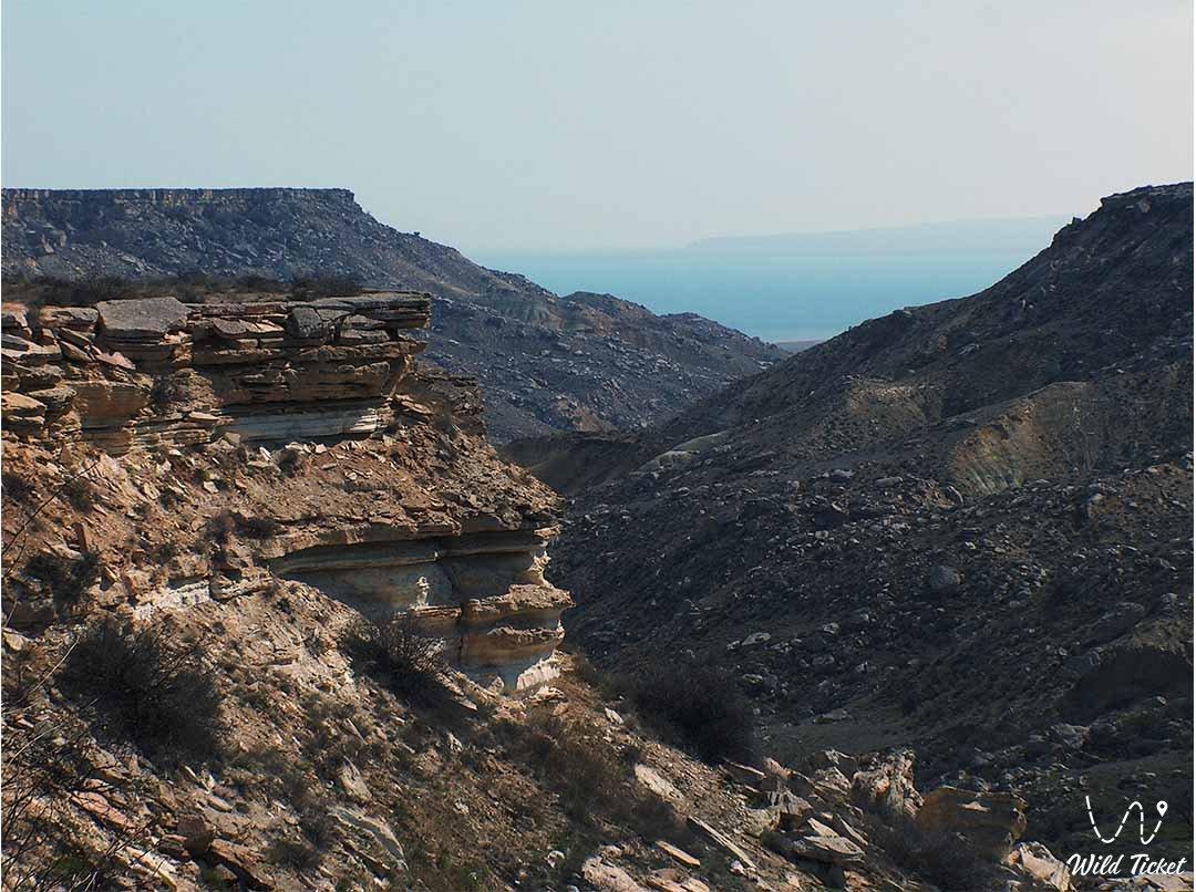 Sultan-Epe canyon at the Caspian Sea, Mangystau, Kazakhstan.