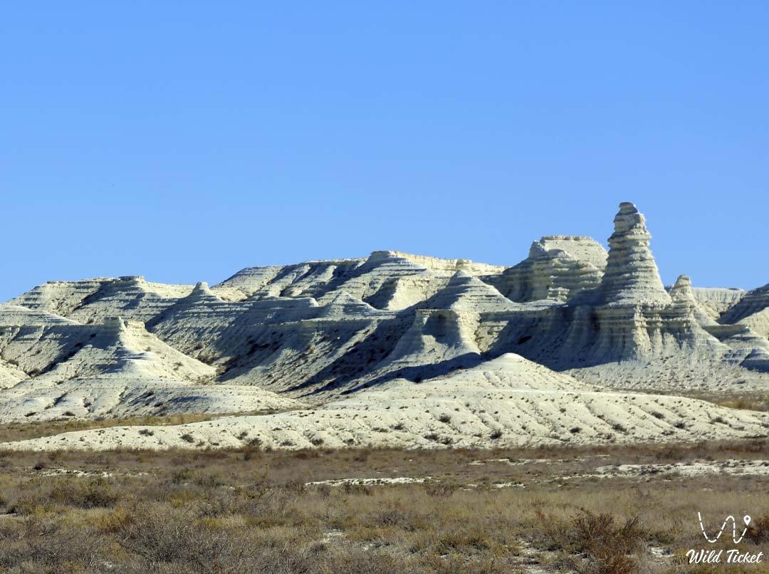Akkergeshen plateau in Atyrau region, Kazakhstan.