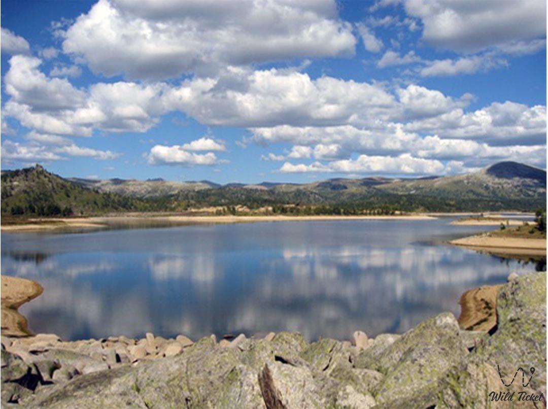 Maloulbinskoye reservoir in East Kazakhstan region.