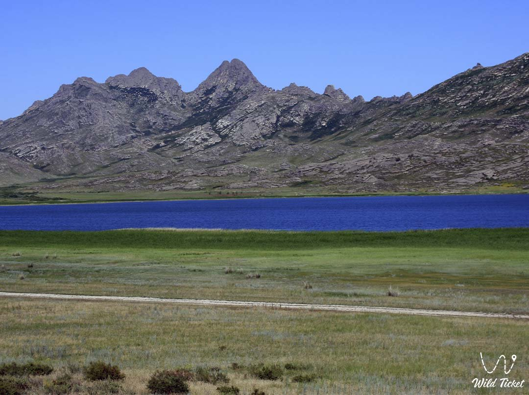 Ayir lake in East Kazakhstan region.