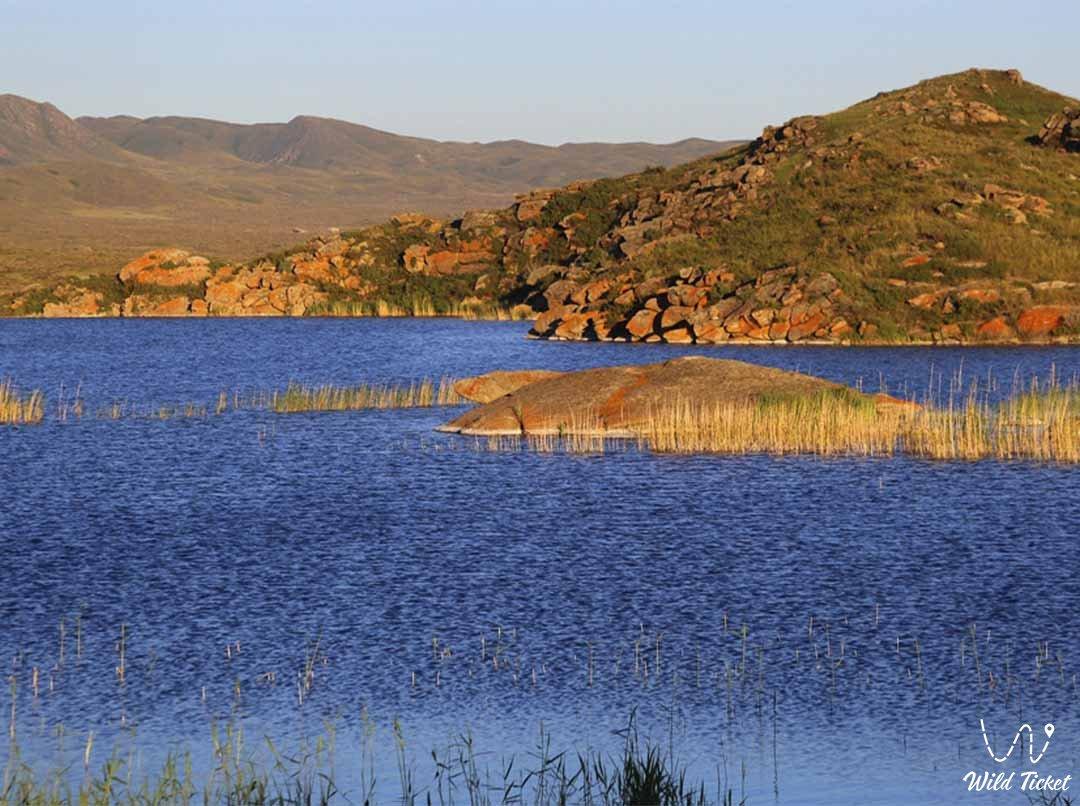 Kemirkol lake in East Kazakhstan region.