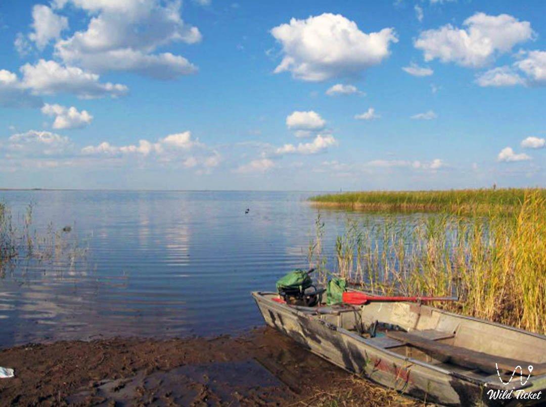 Sasykkol lake in Almaty and East Kazakhstan regions.
