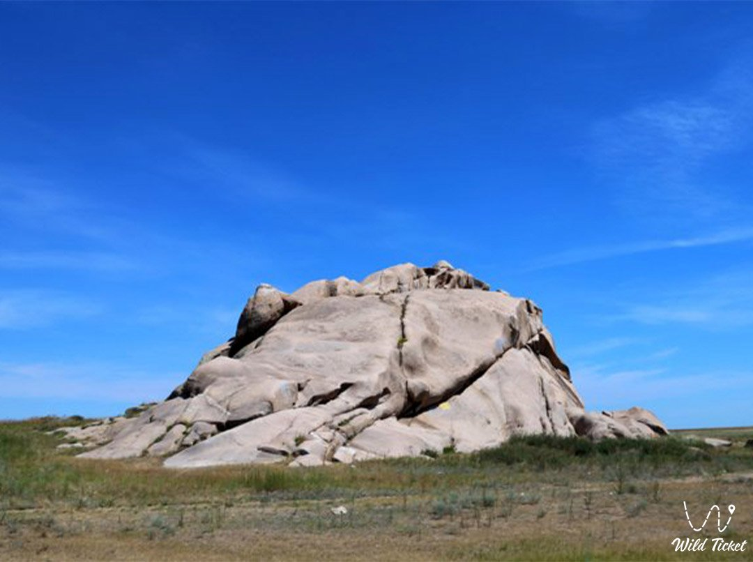 Boritastagan granite cliff in East Kazakhstan region.