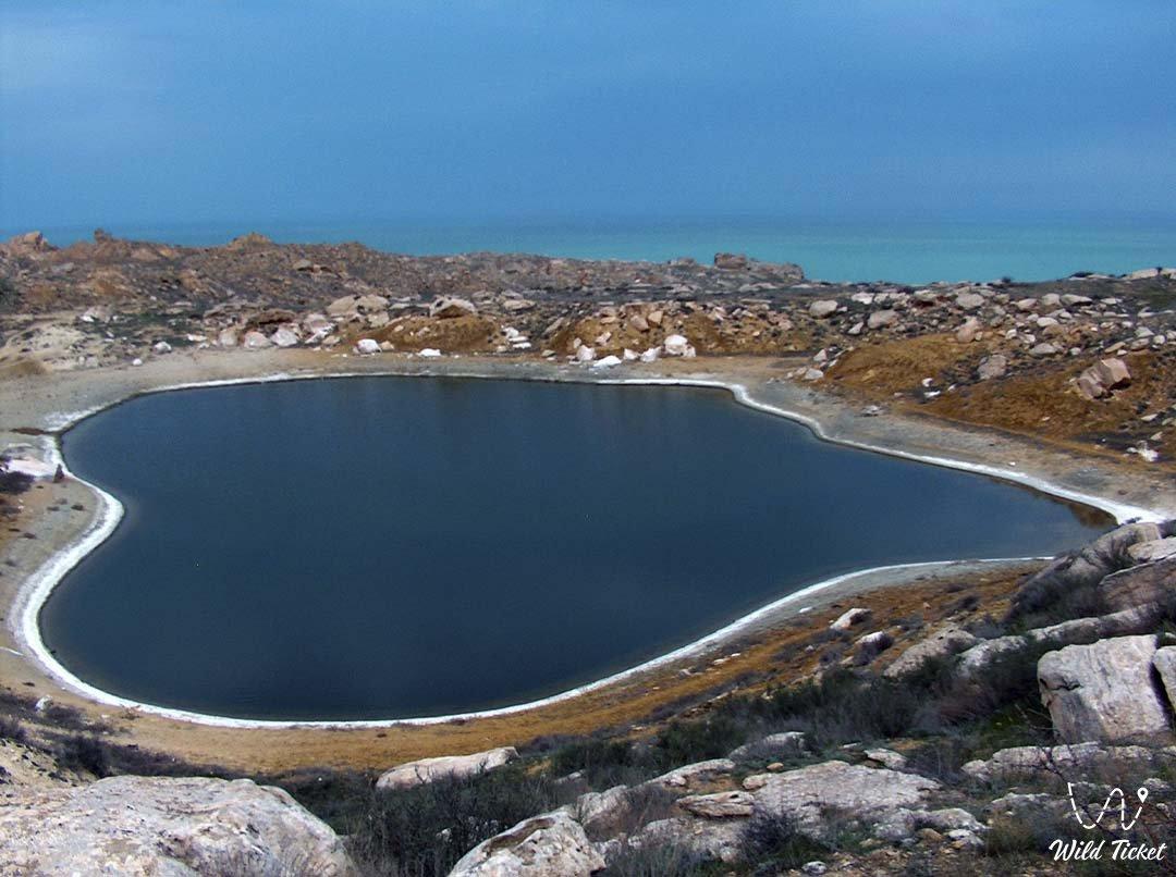 Kuzdakary lake, Mangyshlak, Kazakhstan.