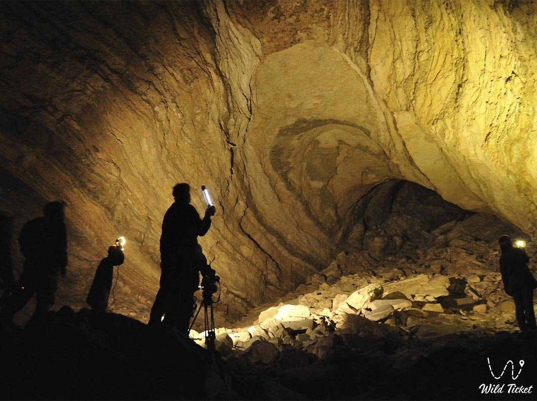 Balayuk cave in Mangystau region, Kazakhstan.