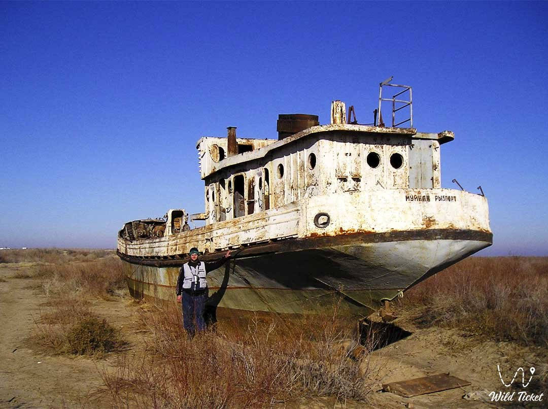 Travel along the Aral Sea in Kazakhstan.