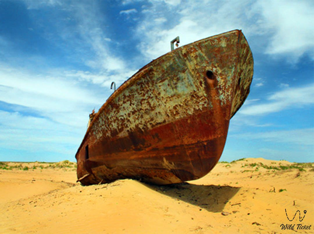 Lets save the Aral Sea (Aral Sea catastrophe) in Kazakhstan.
