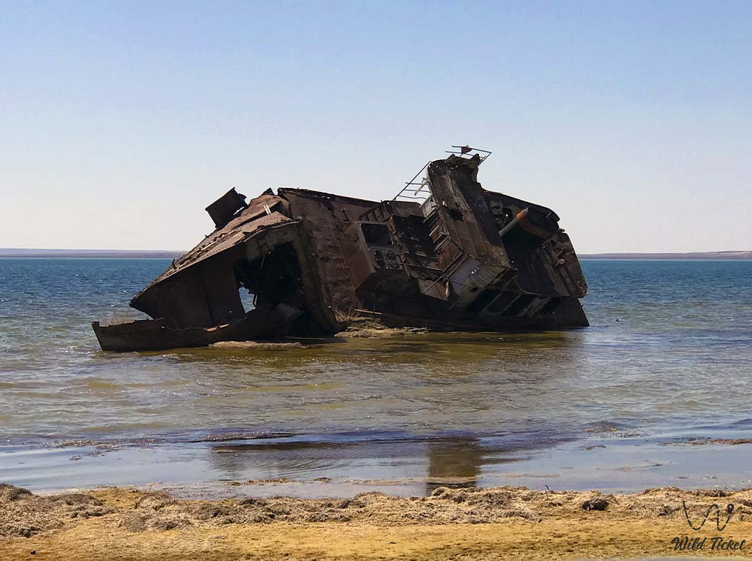 Second ship on the Aral Sea, Kazakhstan.