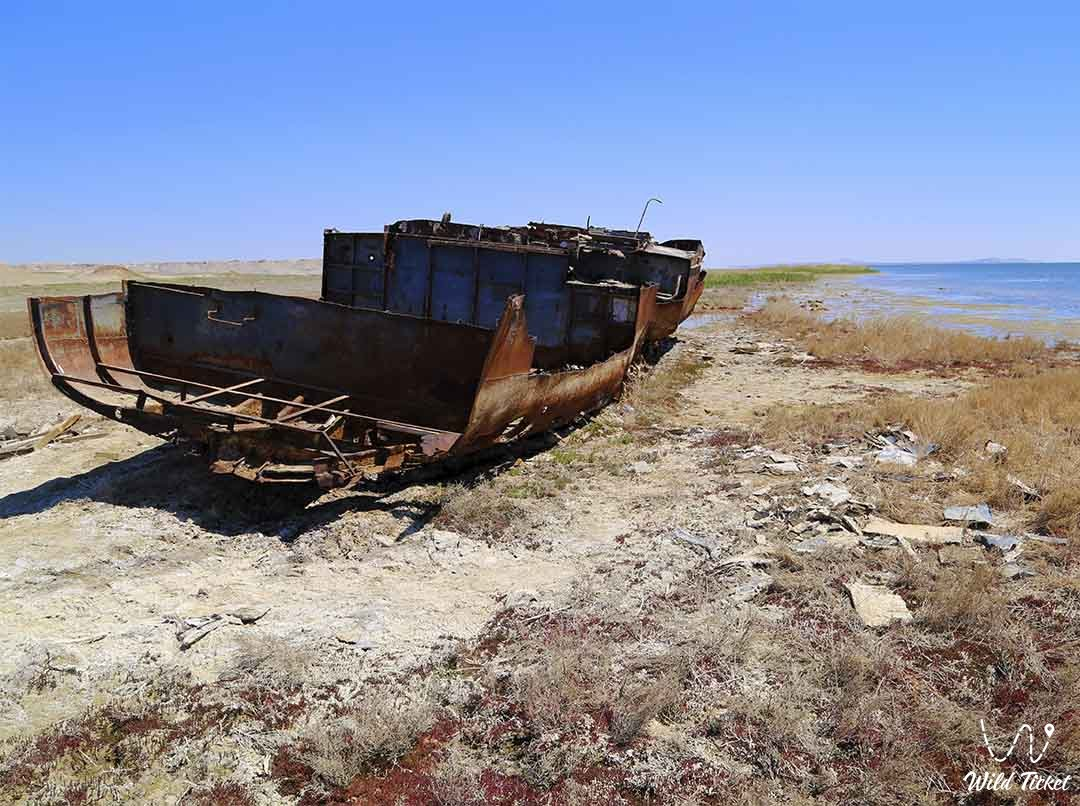 First Ship (Ship number one), Aral Sea, Kazakhstan.