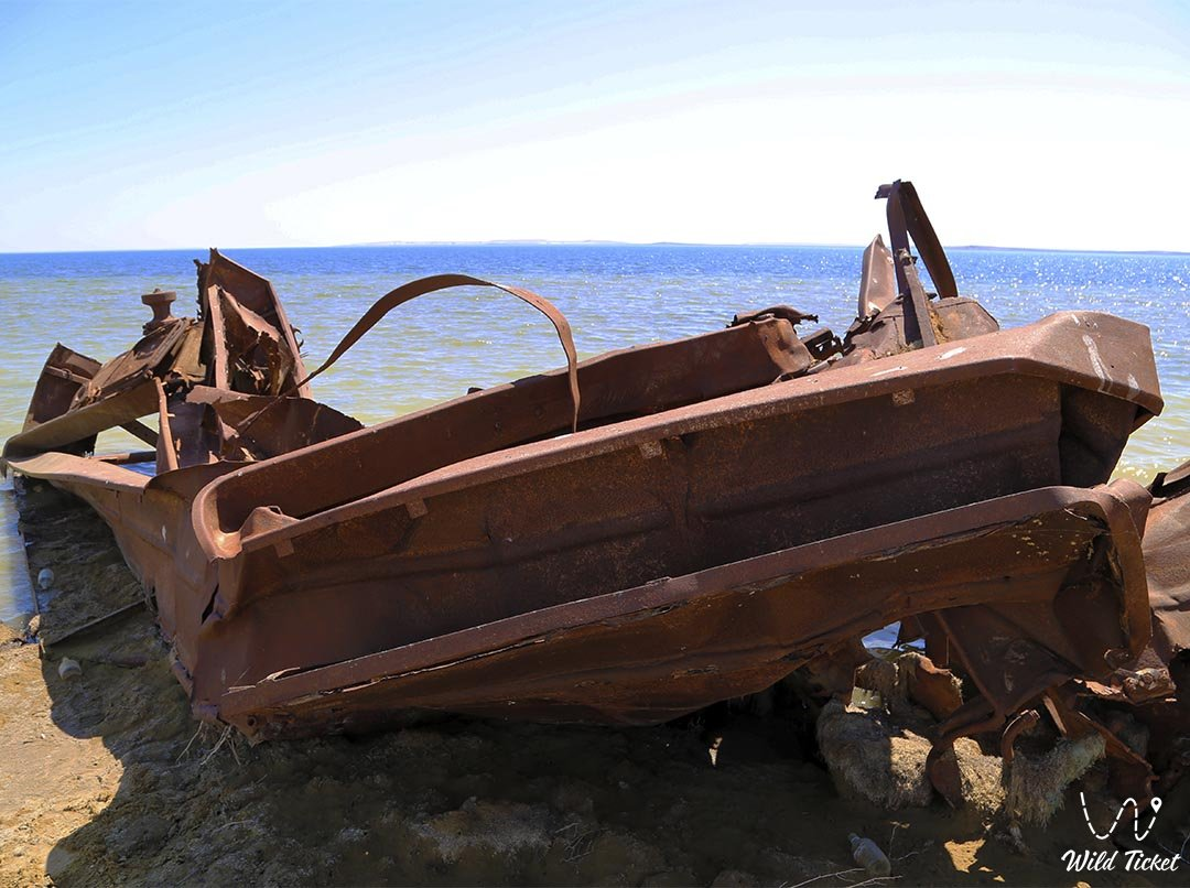 Third Ship at the Aral Sea in Kazakhstan.