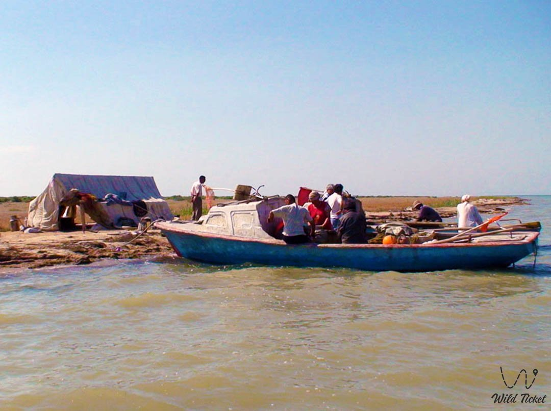 Fishing at the Aral Sea in Kazakhstan.