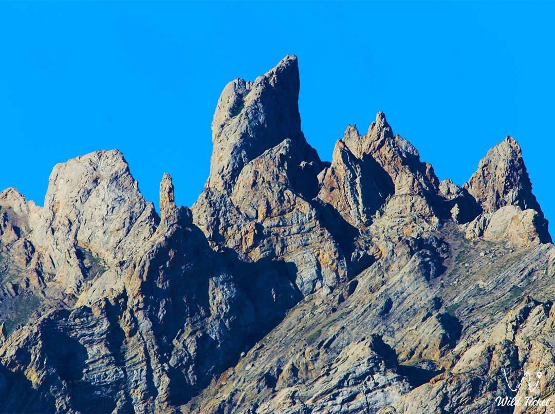 Kelinshektau mountain range in the Turkestan region, Kazakhstan.